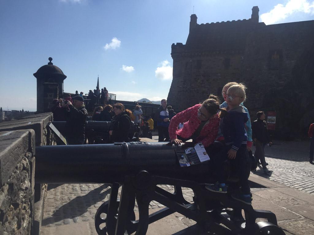 Edinburgh met kinderen kanonnen