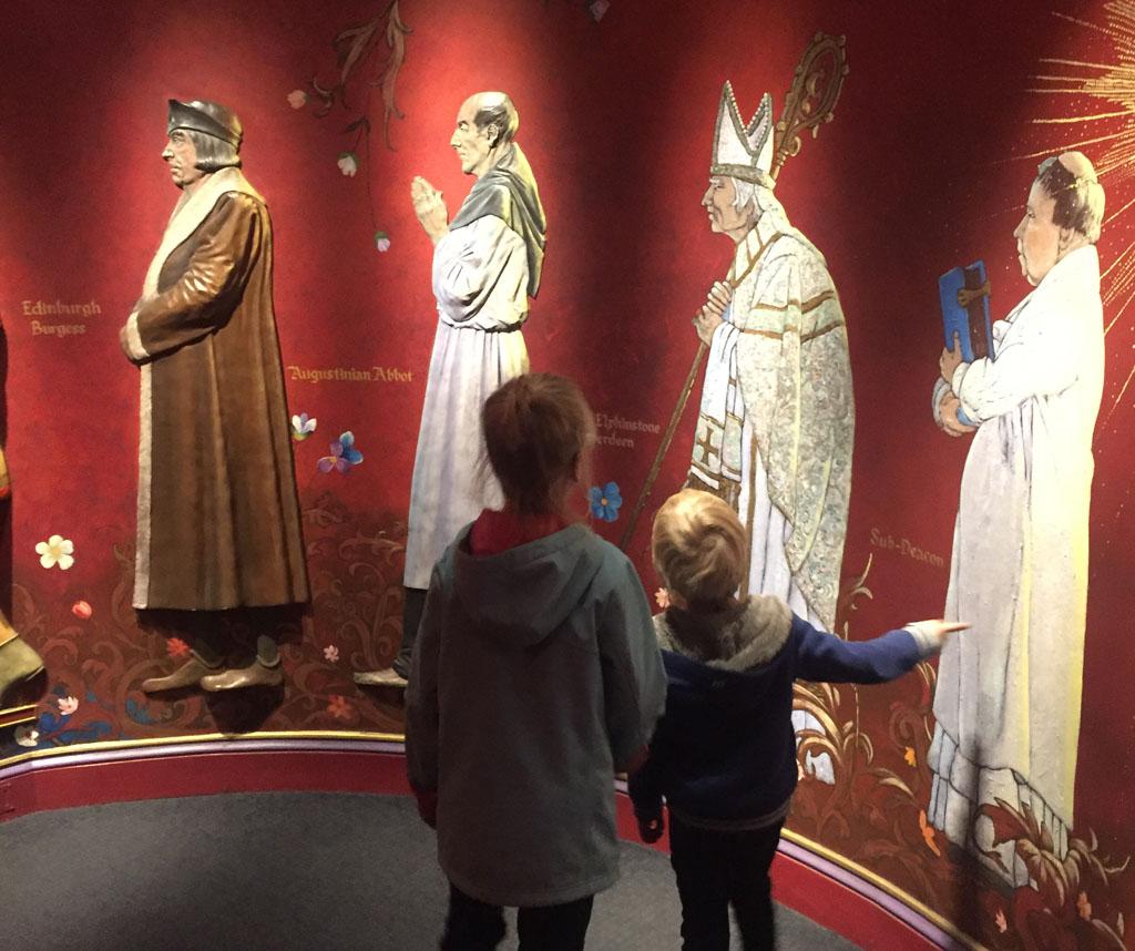 Edinburgh met kinderen heersers