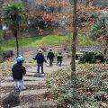 Het pad af in de Botanische Tuinen in Utrecht met kinderen