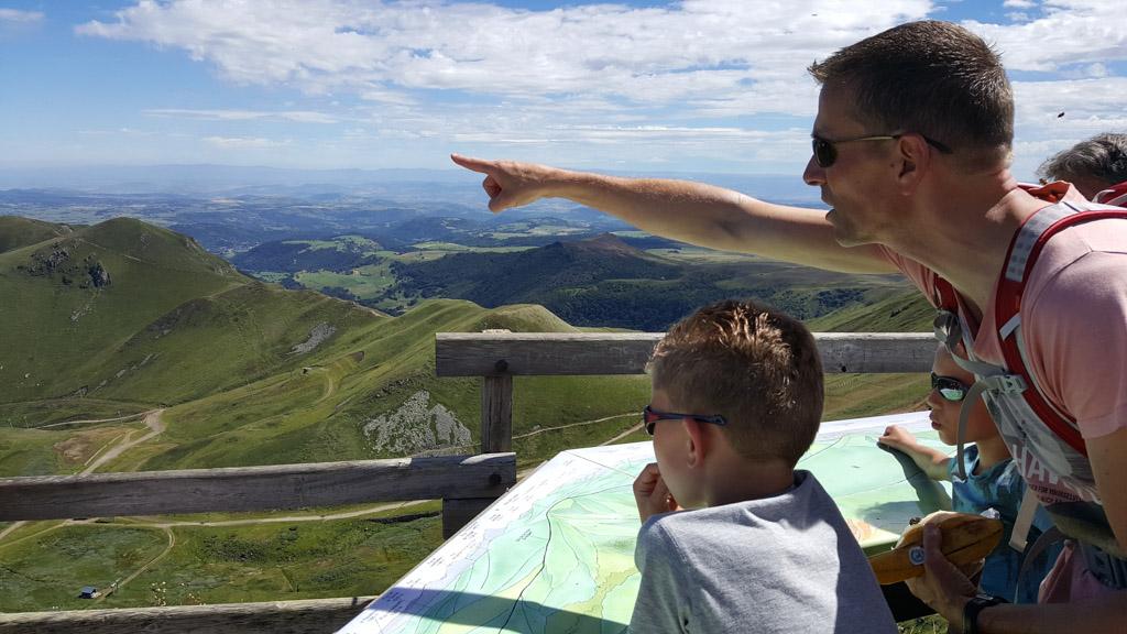 Bovenop de Puy de Sancy, de hoogste vulkaantop van het Centraal Massief.