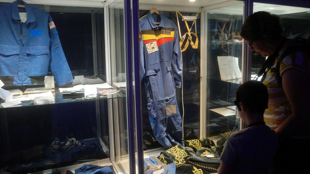 Spullen van de Belgische astronaut.