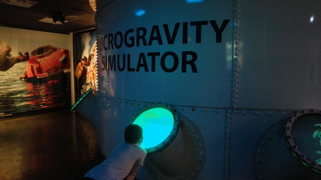 Een van de simulatoren.