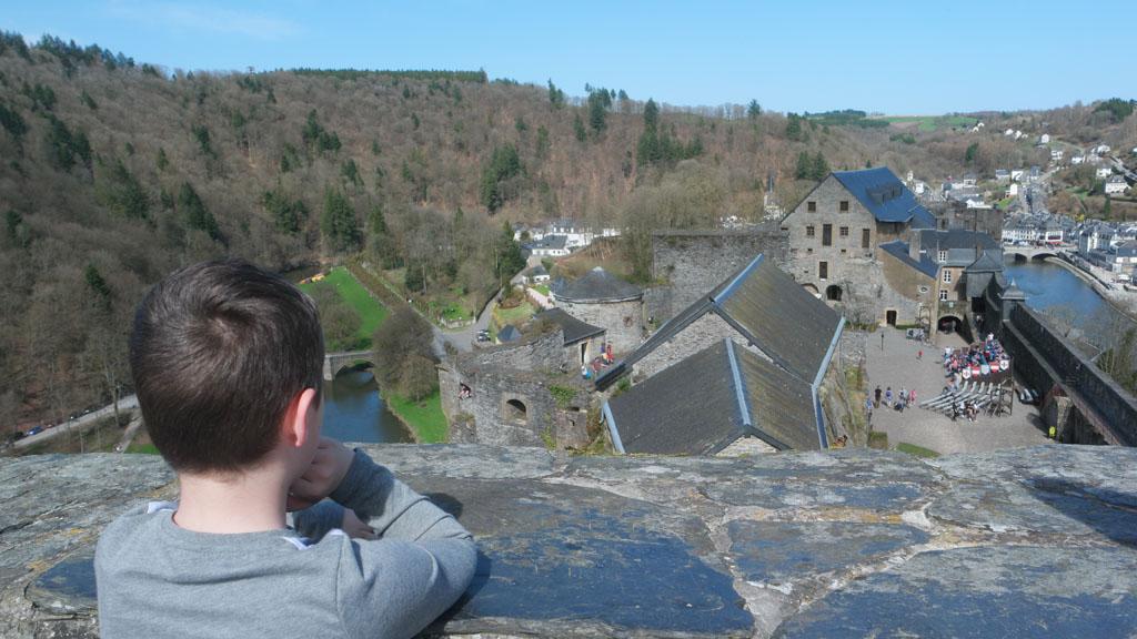 Een van de torens van het kasteel is te beklimmen.