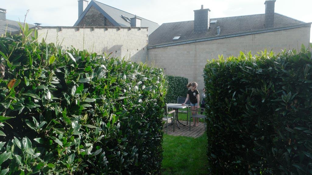De tuin van het appartement.