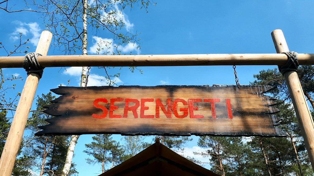 Onze safari lodge op de Veluwe heet Serengeti