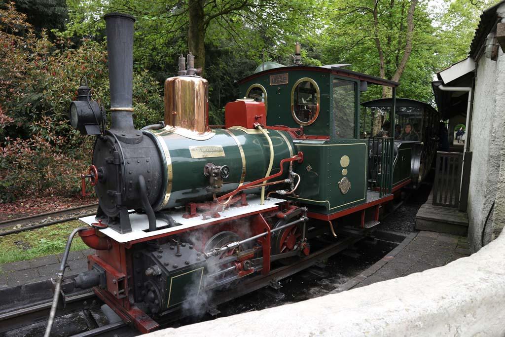 Het nostalgische treintje dat een rondje door de Efteling maakt.
