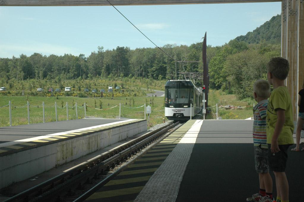 Met de trein naar boven op de Puy de Dome.