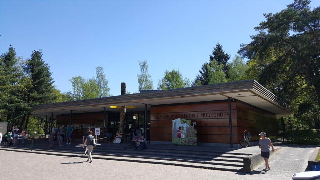 Het bezoekerscentrum in het Nationaal Park de Hoge Veluwe.