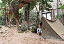 Spelen in de tenten