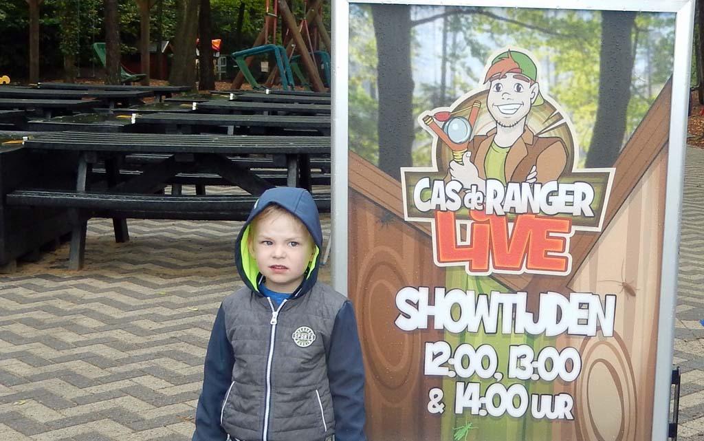 De Cas de Ranger Show is meerdere keren per dag te zien