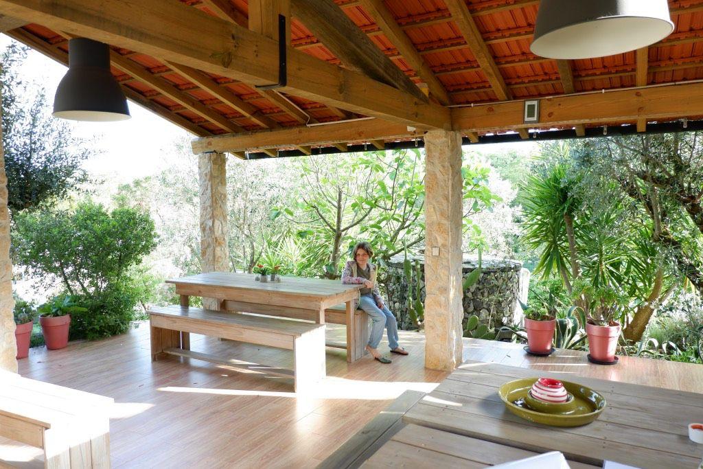 Overdekt terras Casa Cantiga