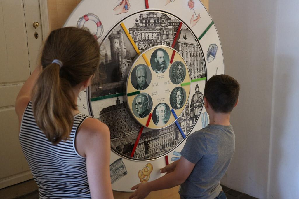 In de hal van het Kindermuseum treffen we dit bord aan. Na even twijfelen besluiten we het museum niet te bezoeken.