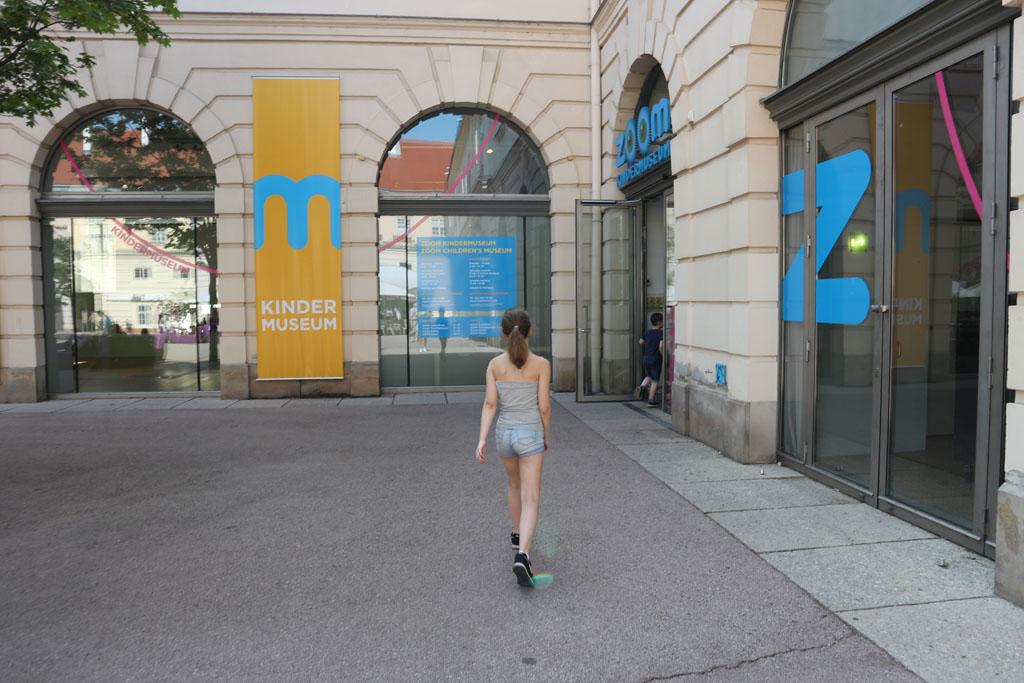 Het ZOOM Kindermuseum ligt in het Museum Quartier.