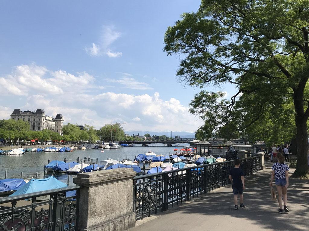Zürich is ook een groene stad.