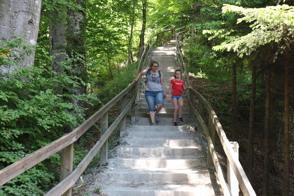Wandelen vanaf de Uetliberg betekent eerst trappen af.
