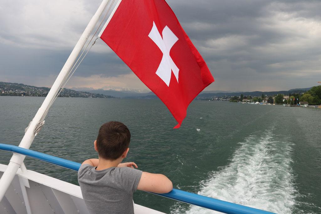 Terug naar Zürich met de boot.