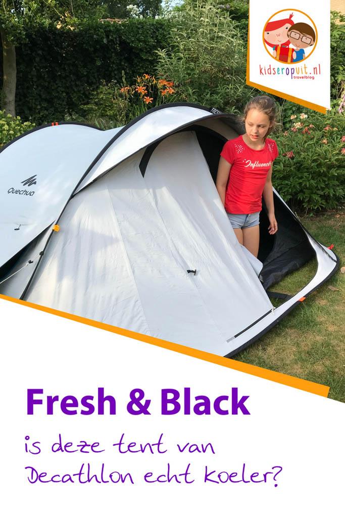 Is de Fresh & Black tent van Decathlon echt koeler? Lees nu onze test