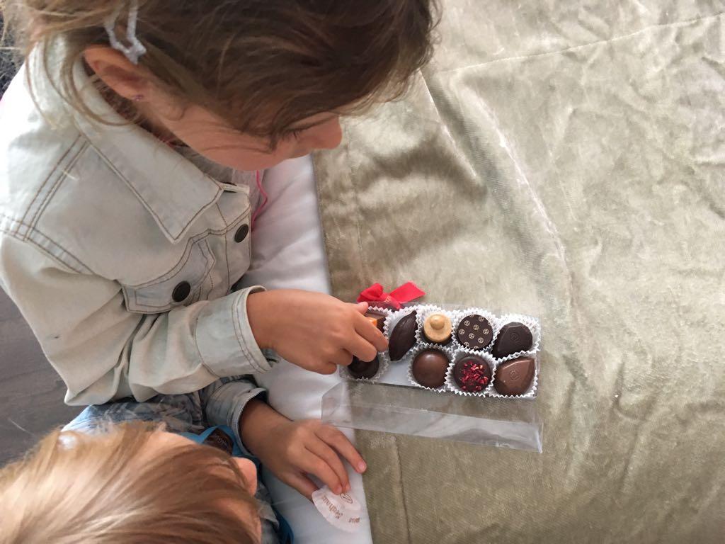 Brusselse chocolaatjes bij aankomst op je kamer vinden, jammie!