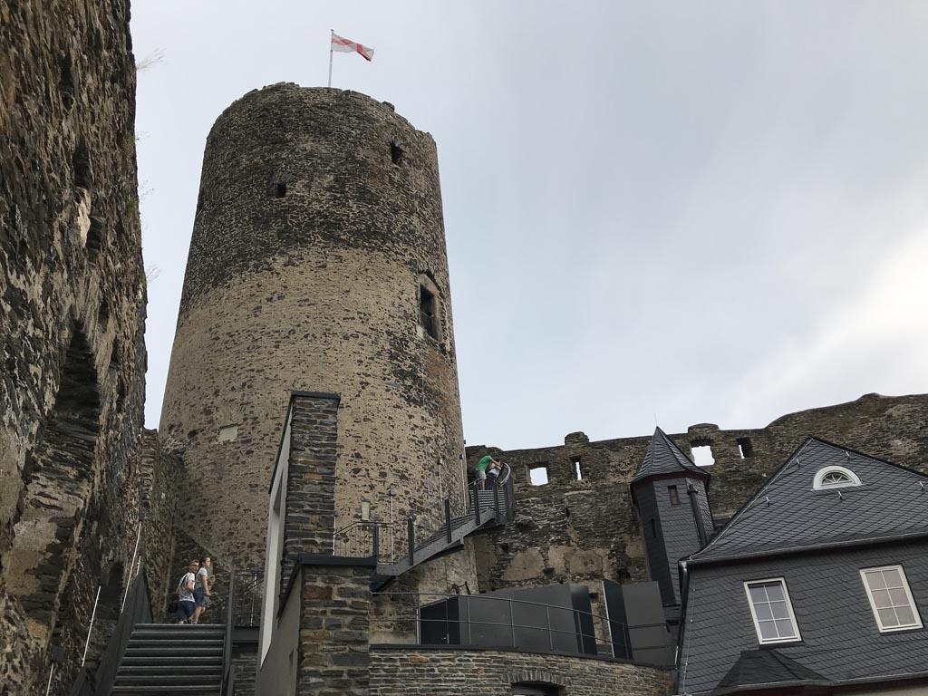 Burg Landshut bij Bernkastel-Kues.