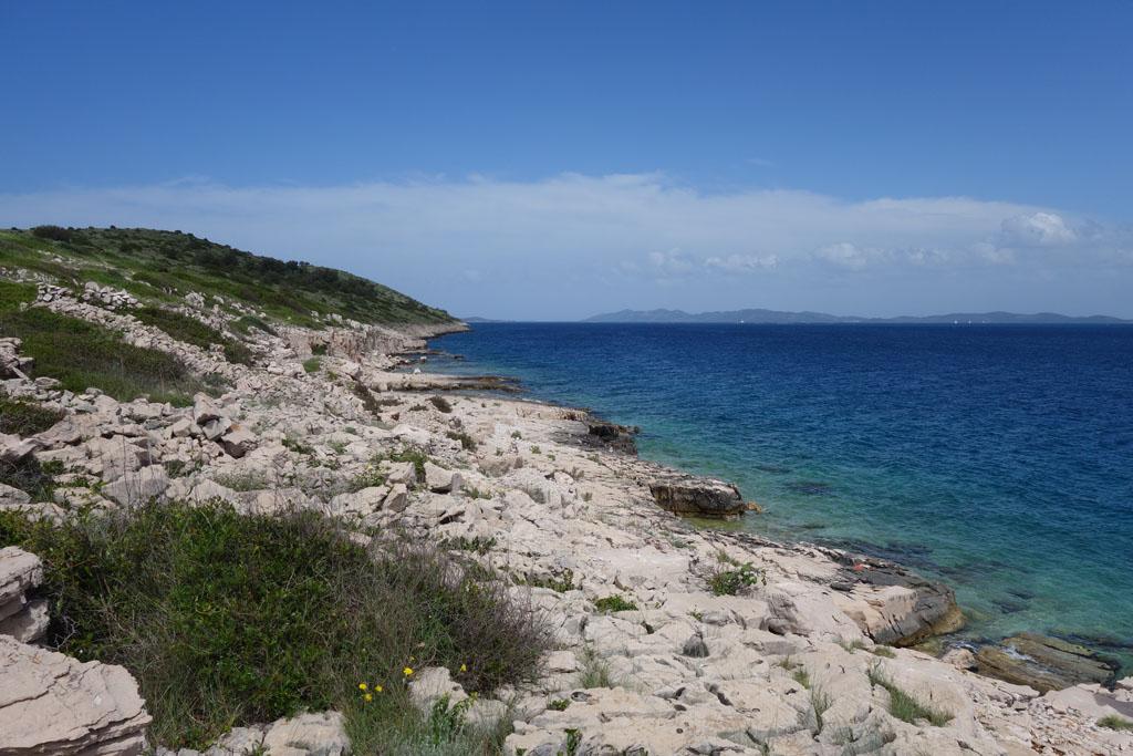 natuurparken rondom zadar lopen over het eiland