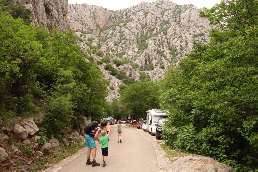 natuurparken rondom zadar klimmen