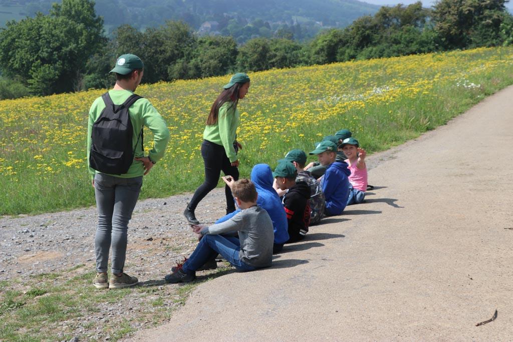 De natuurwandeling is leerzaam en leuk.