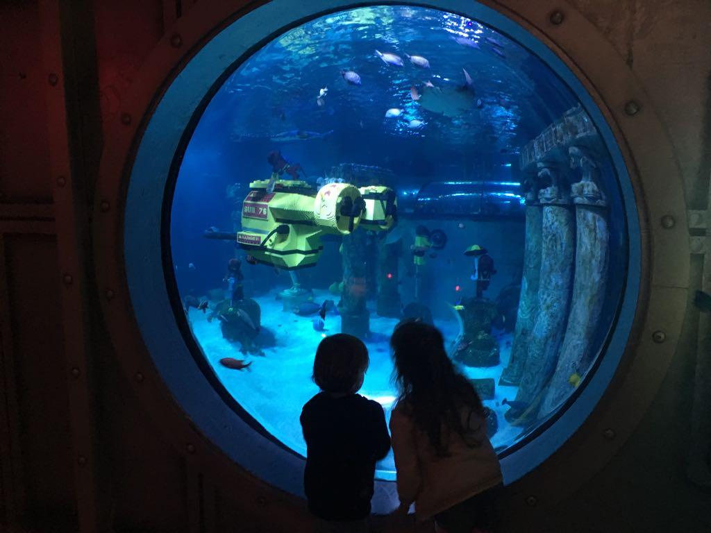 Er is zelfs LEGO onder water te zien in Sea Life.