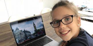 Roos gaat Engels leren in Engeland.