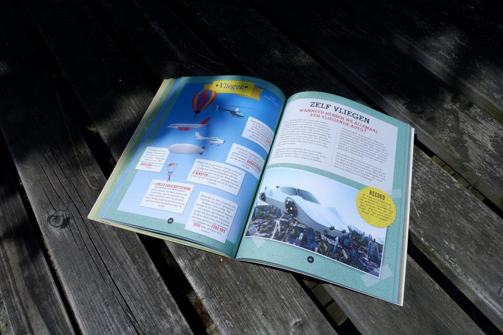 In het Young Scientist vakantieboek staan veel interessante dingen over wetenschap en geschiedenis