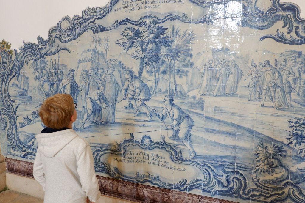 Tegelschildering in het klooster van Alcobaça