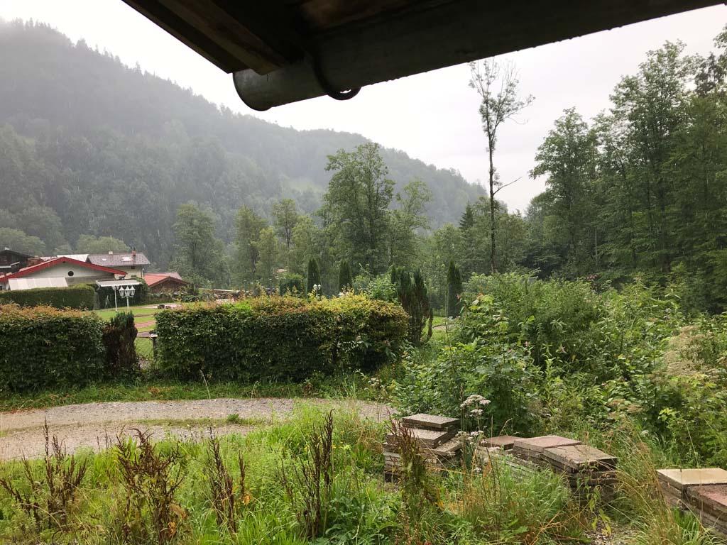 Zo kan het gaan in de bergen: opeens heel veel regen.