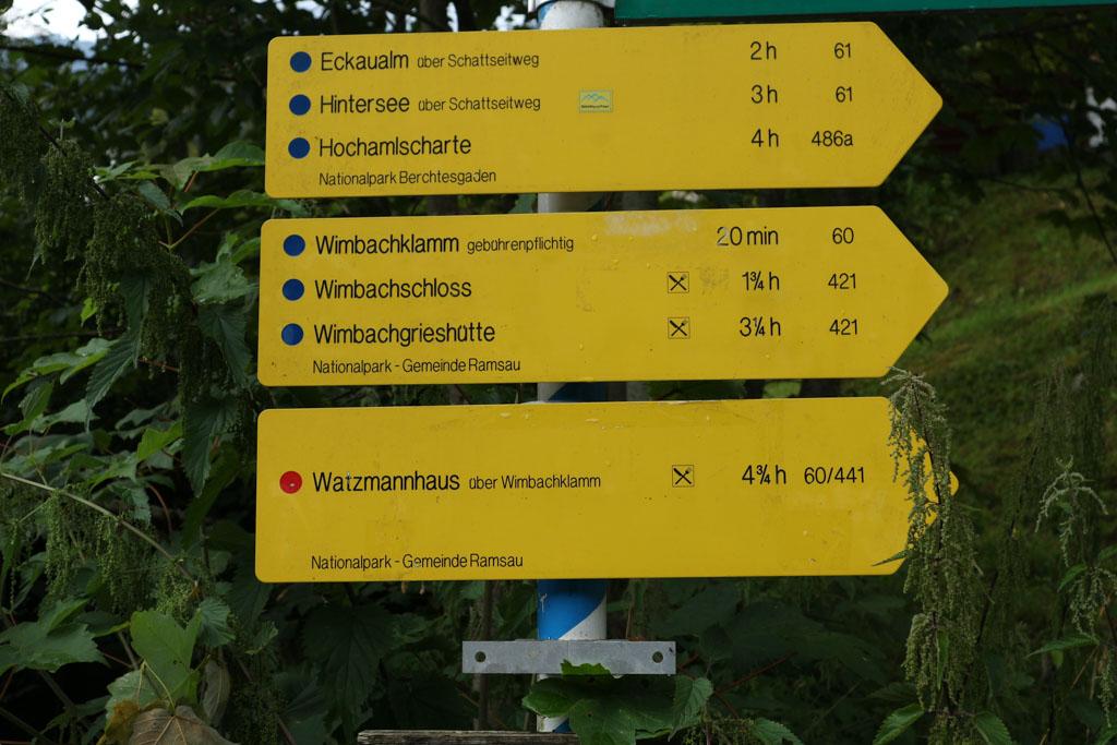 20 minuten lopen naar de Wimbachklamm.