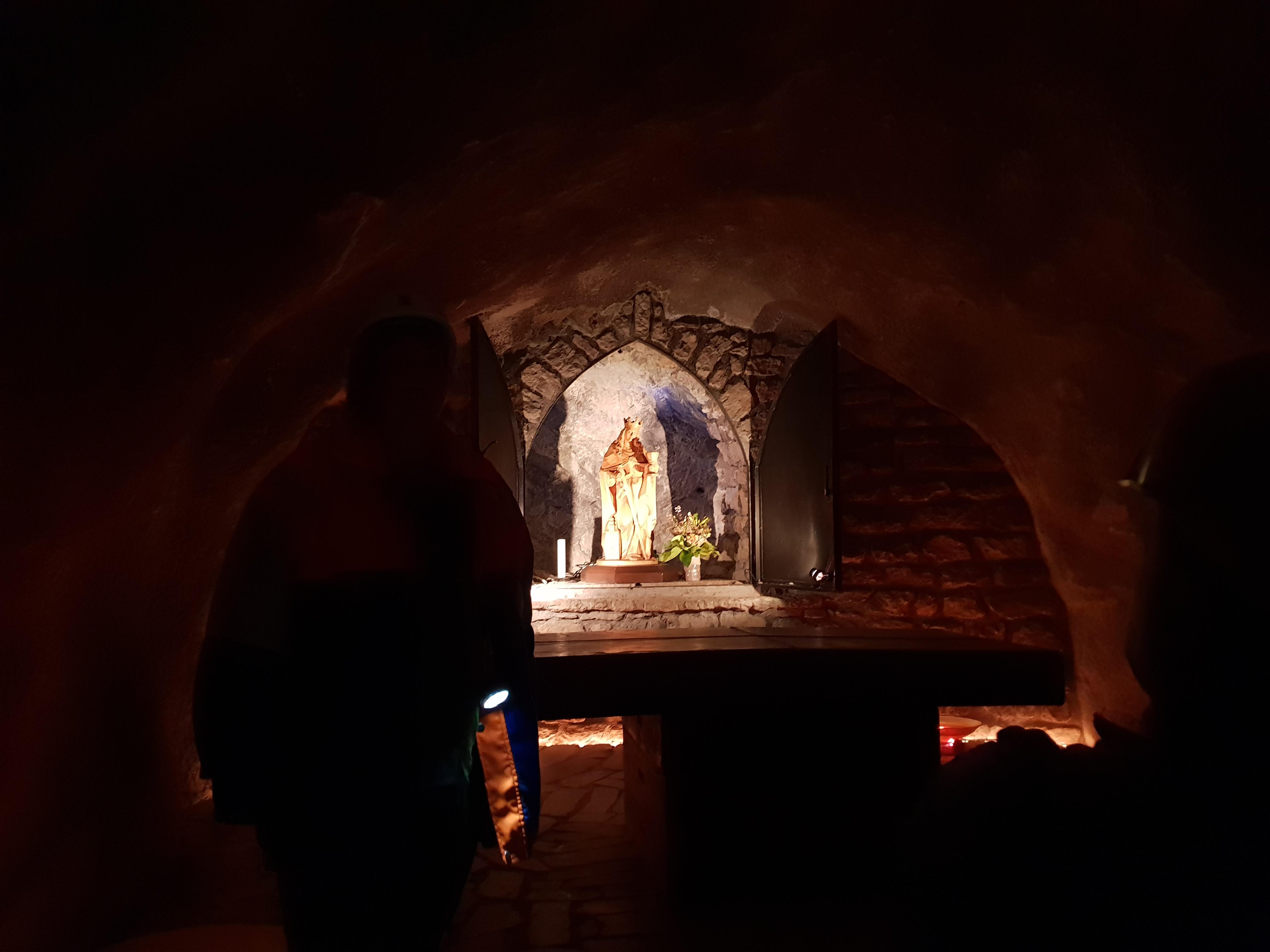 Nog een laatste zwaai naar Heilige Barbara, de beschermheilige van de mijnwerkers