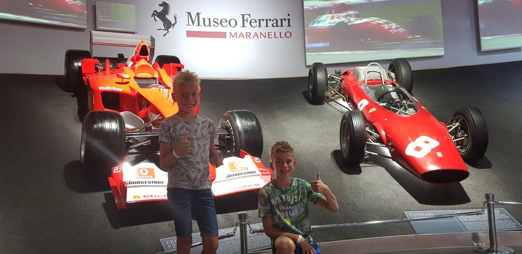 Dit is wel een supertof deel van het Ferrari Museum in Maranello.