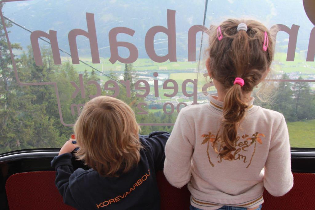 Sonnenbahn Speiereck: blijft magisch zo'n uitzicht uit een gondel.