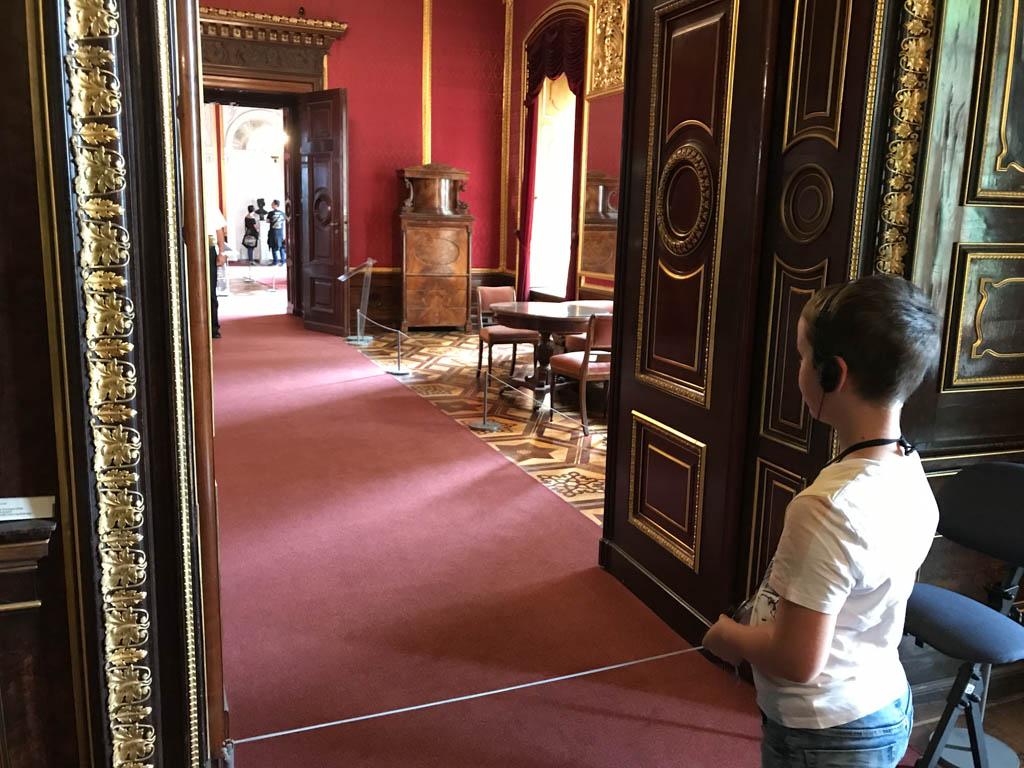 Schloss Schwerin heeft een echte 'paleis-inrichting'.