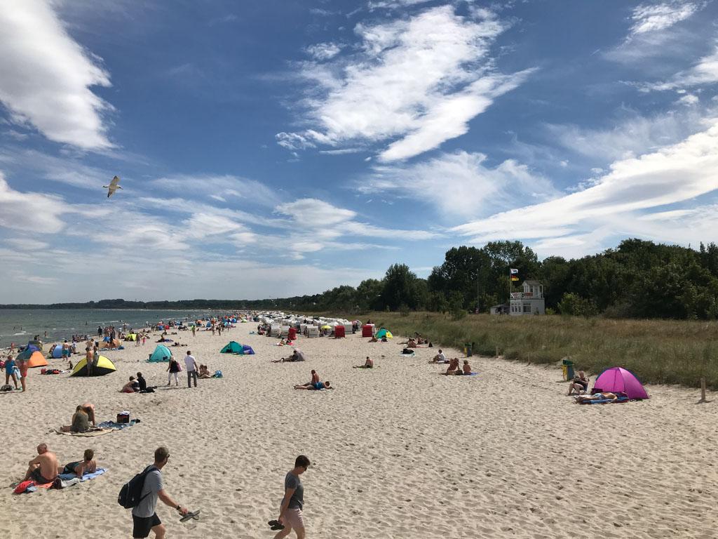 Het mooie en schone strand van Boltenhagen.