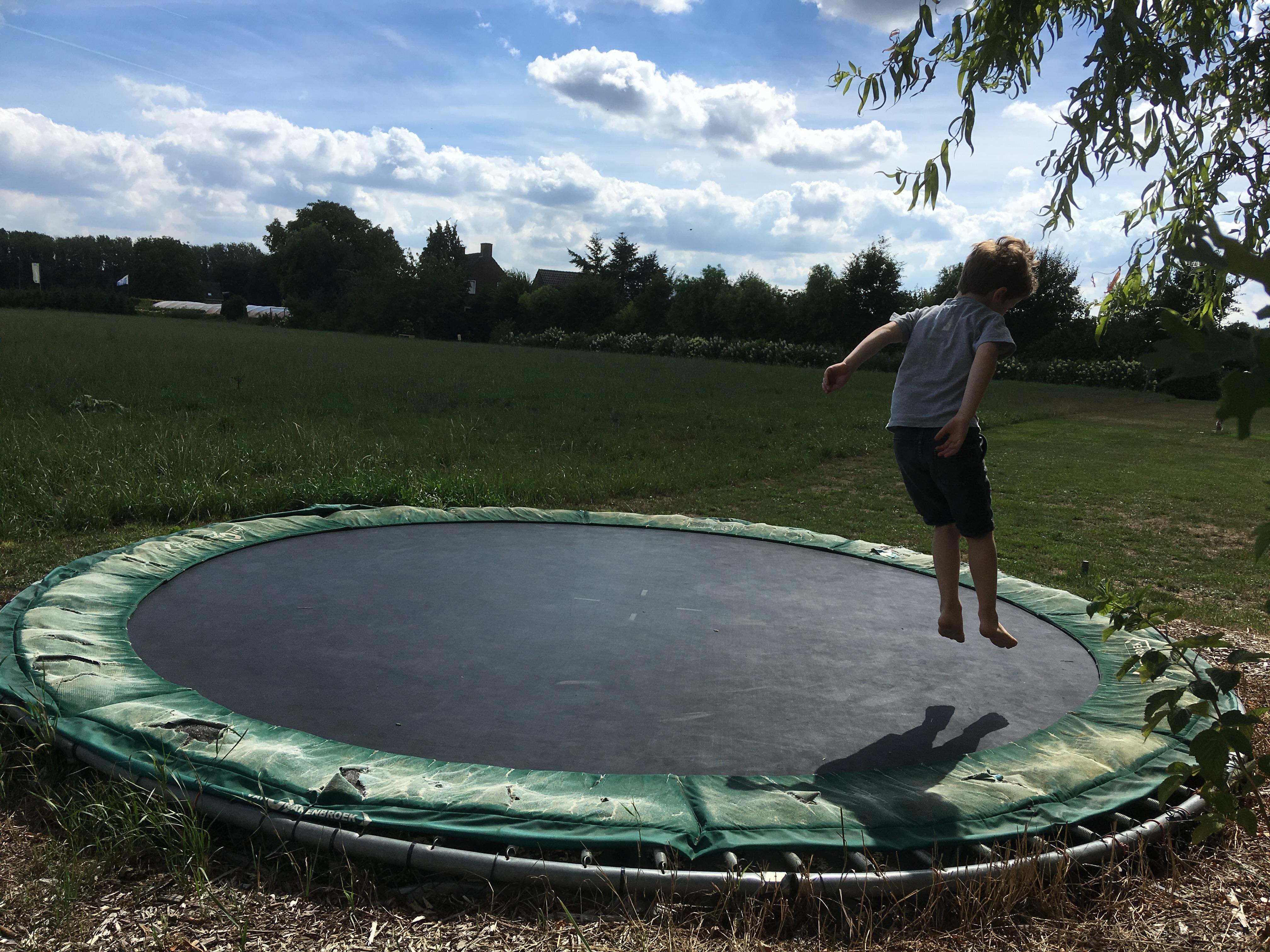 Altijd goed: een trampoline!
