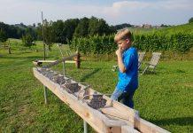 De knikkerbaan past helemaal in het wijnlandschap zuid-steiermark-met-kinderen