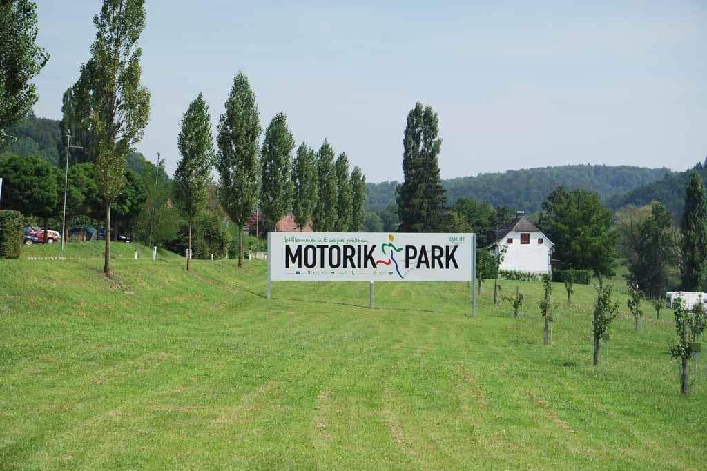 Het Motorikpark in Gamlitz