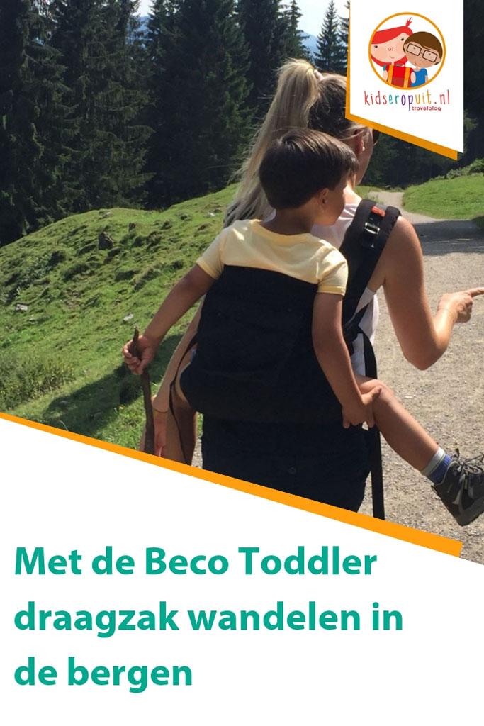 Beco Toddler draagzak getest tijdens het wandelen in de bergen