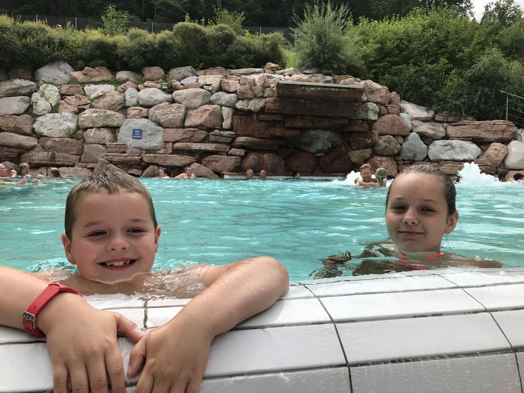 Heerlijk zwemmen in de Watzmann Therme.