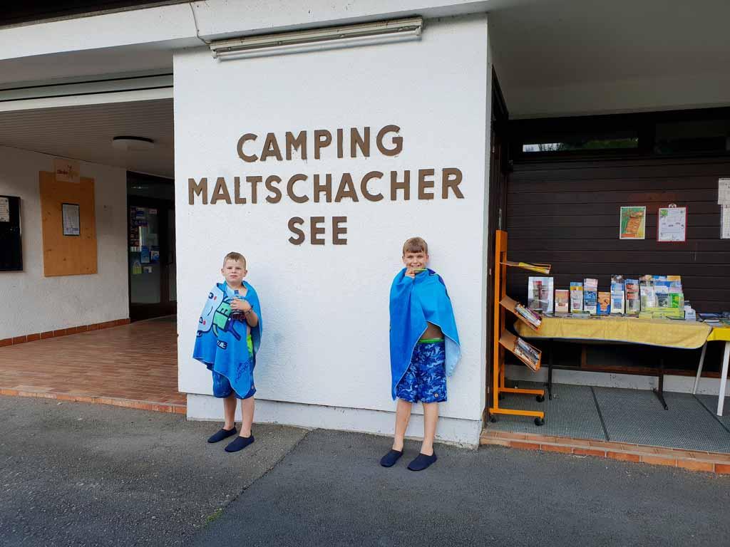 Lekker zwemmen hoor bij camping Maltschacher See