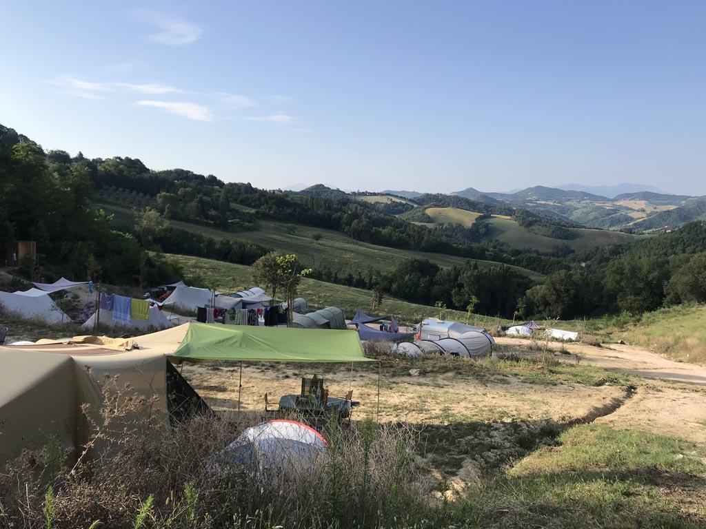 camping pronto campi uitzicht
