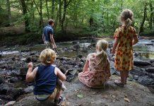 Bij Site Corot kun je grotendeels door het riviertje lopen