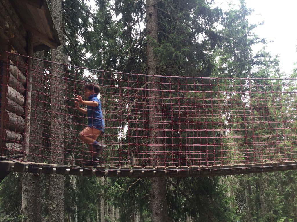 In Kaiserwald is het klimmen en klauteren.