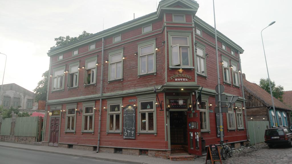 Hotel Fontaine, in een typisch Lets Jugendstilpand.