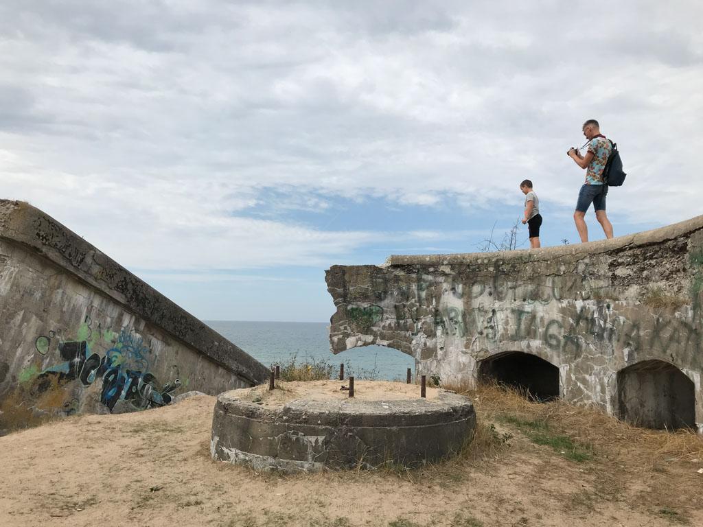 De bunkers van de Northern Forts zijn vrij toegankelijk.