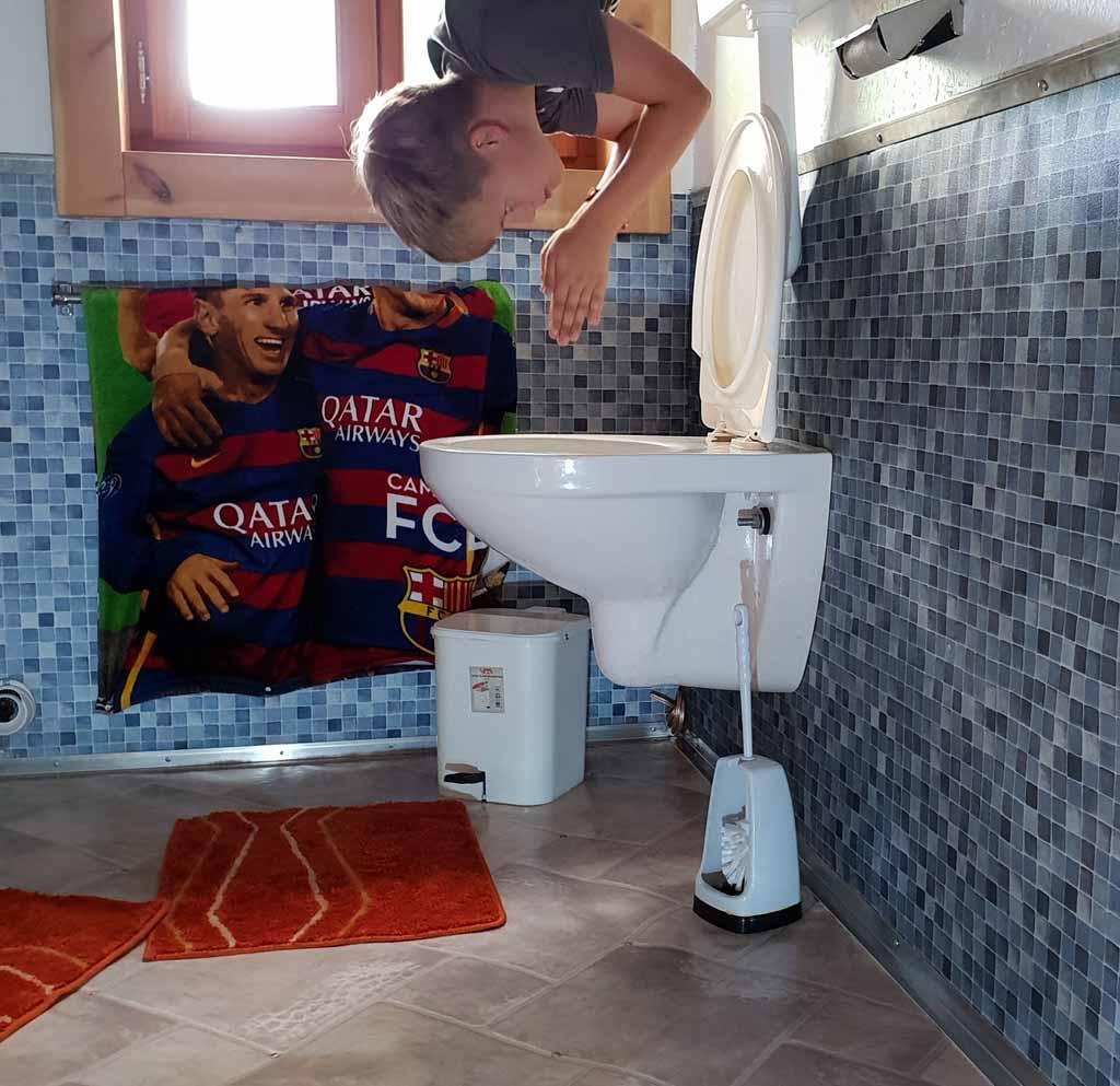 Voor een verfrissende duik in het toilet