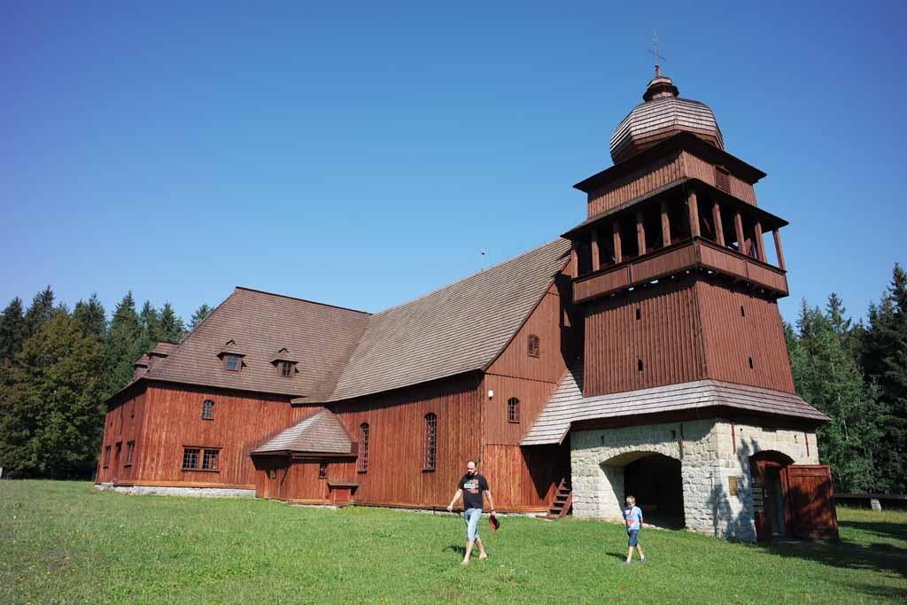De houten kerk van Svätý Kríž liptov-regio-in-slowakije